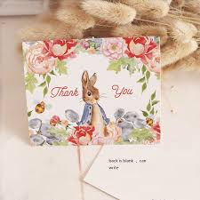 50pcs mini thanks card peter rabbit style leave message cards