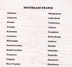 Southeast United States Map by Hm12 Jonathan U0027s Social Studies