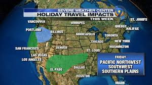 Seattle Weather Map by Holiday Travel Daily Forecast And Impacts Across The Country