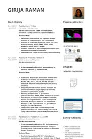 Sample Research Resume by Postdoctoral Fellow Resume Samples Visualcv Resume Samples Database