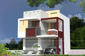 Raw House Model Duplex House Design Plans Elevation Front Flat Roof Modern Home