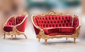French Provincial Sofas Red Velvet Provincial Sofa 634do Provincial