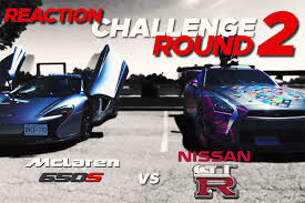 nissan spider time for a toronto reaction challenge with a gt r and mclaren 650s