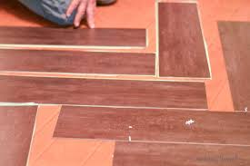 tips to install vinyl plank floors in a herringbone pattern plus