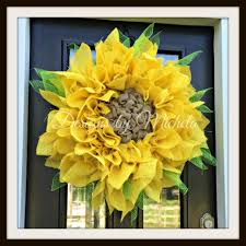 burlap sunflower wreath burlap sunflower wreath br134 designs by michela