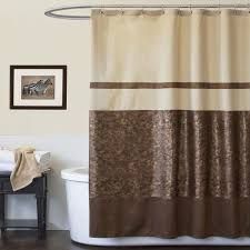 Brown Floral Shower Curtain Bathroom Magnificent Modern Fabric Shower Curtain Dreyer Eva