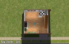 mod the sims starter row houses a set of 3 basegame starter
