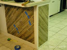 remodelaholic diagonal planked reclaimed wood kitchen island