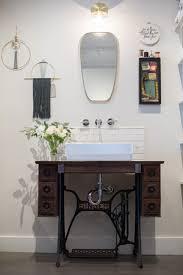 Boutique Bathroom Ideas Boutique Custom Vanity Singer Sewing Machine With Vessel Sink