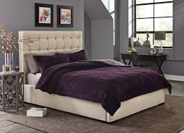 Purple Velvet Comforter Sets Queen Cannon Silky Velvet Comforter Set Purple