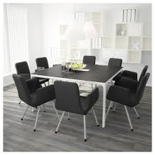 Ikea Extendable Table by Bekant Conference Table Black Brown White 140x140 Cm Ikea