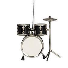 black drum set hanging ornament musical instrument