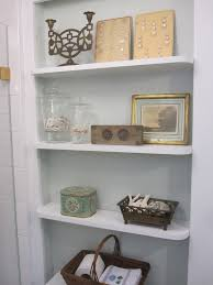 Recessed Shelves In Bathroom Bathroom Storage White Recessed Shelves For Small Excerpt Shelving