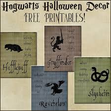 Harry Potter Room Decor Halloween Decor Harry Potter House Posters