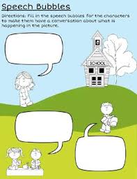 speech bubble worksheet for writing dialogue by miss ilyssa