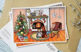 christmas cards christmas postcard greeting cards