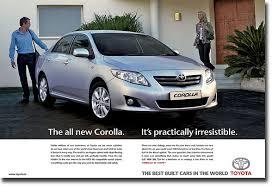 toyota corolla commercial car travel magazine october 2007