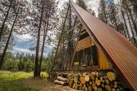 small a frame cabin far meadow a frame