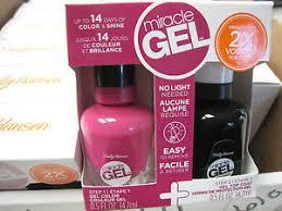 gel nail light sally s beauty sally hansen miracle gel nail polish top coat duo no light 311