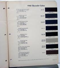 chevrolet dupont color paint chips automotive finishes original codes