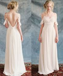 Cheap Online Wedding Dresses Aliexpress Com Buy Elegant Boho Beach Wedding Dress 2017 Chiffon