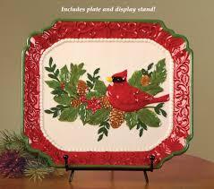 christmas cardinal serving plates and trays christmas wikii