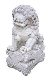 white foo dogs pair of antique white marble foo dogs circa 1850 at 1stdibs