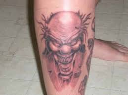 14 scary clown tattoo designs