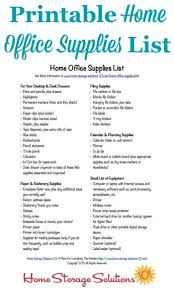 home office necessities free printable home office supplies list