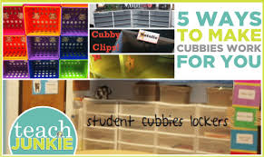 5 ways to make cubbies work for you teach junkie