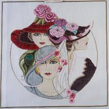 s needle arts needlepoint kit hp canvas vogue complete