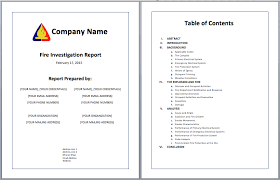 investigation report template investigation report template printable templates