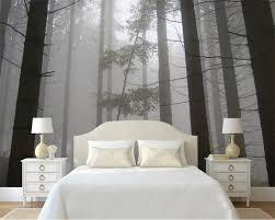 online shop beibehang 3d wallpaper retro nostalgic mood hazy woods