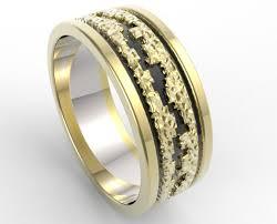 2 wedding bands hammered gold wedding band mens vidar jewelry unique custom