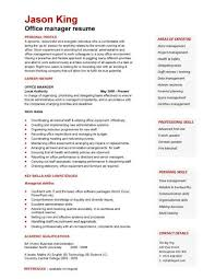 Office Resume Template Free Sample Resume Templates Best Format Examples Objectives