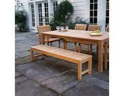 Used Teak Outdoor Furniture by Kingsley Bate Waverley Collection Teak Backless Bench