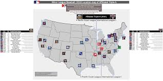 Illinois Map Of Cities by Affiliated Triple A Minor League Baseball Milb Location Map Of