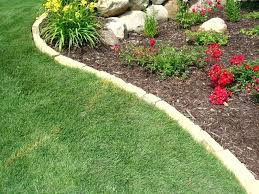 Rock Borders For Gardens Rock Flower Bed Border Landscaping Wysiwyghome