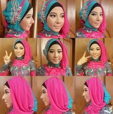 tutorial jilbab segi 4 untuk kebaya ini loh tutorial hijab kebaya segi empat yang sangat anggun buat