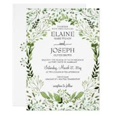 wedding invitations greenery greenery wedding invitations announcements zazzle