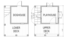 playhouse floor plans two story playhouse and doghouse design