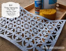 upcycle a wooden tray an easy diy project glamour coastal living