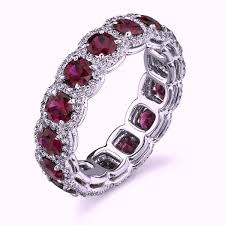ruby eternity ring 4 46ct ruby diamond halo eternity from jewelforme blue