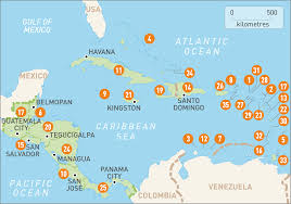 Blank Map Of Caribbean by Map Of Caribbean And Central America Roundtripticket Me