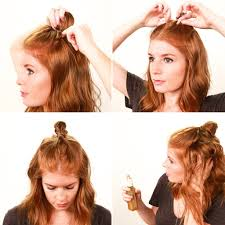 by hairstyle how to get the half bun hairstyle popsugar beauty australia