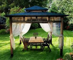 beautiful summer decorating with mosquito nets improving pergola