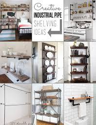 creative shelving pipe shelving ideas