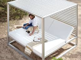 daybed outdoor spaces modern outdoor furniture