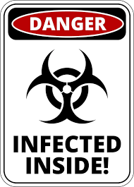 zombies infected inside funny warning enter at own risk sticker zombies infected inside funny warning enter at own risk sticker self adhesive well and truly stuck stickers