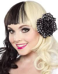 polka dot hair sourpuss polka dot hair flower canuck plus size clothing